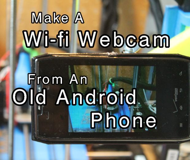 Fun project: make a wi-fi webcam from an old #android phone. You probably have at least one in a drawer.