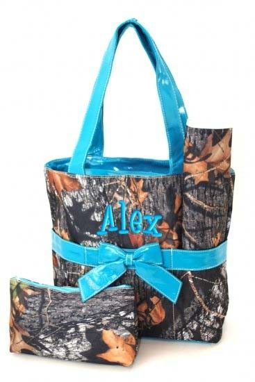 Diaper Bag Personalized Camouflage Blue Mossy Oak Camo by parsik93, $38.99