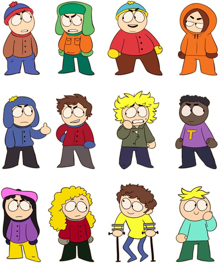 South Park Chibs by Mikky-Be.deviantart.com on @DeviantArt