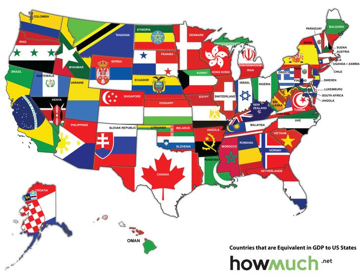 Map Of The US Redrawn As If The States Were Countries With The - Clipart us map border security