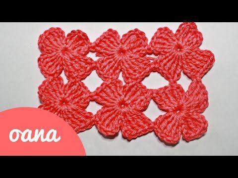 crochet clover stitch - YouTube