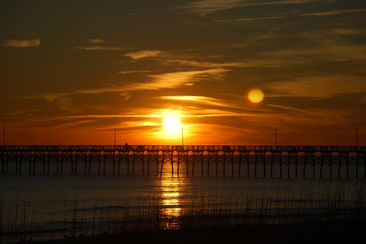 Come enjoy the sunset at Ocean Crest Pier. It's right nearby Goin' Coastal!