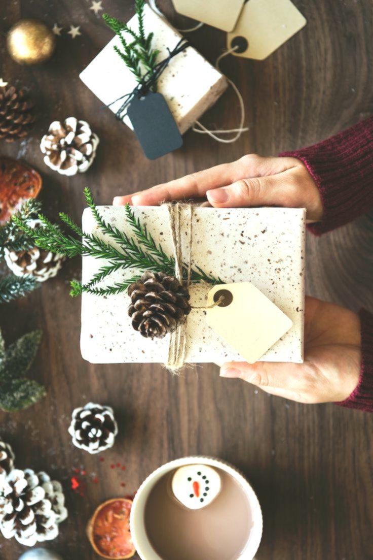 Joli Paquet Cadeau Inspiration Deco Nature Pour Noel Emballage