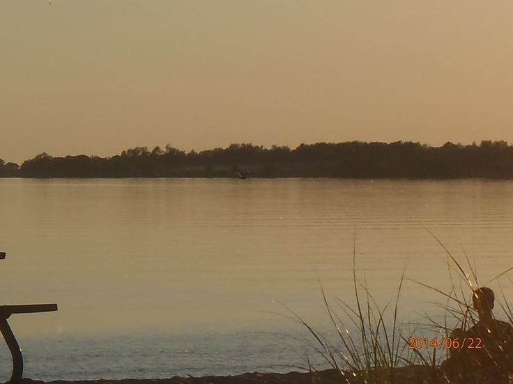 Lake Ontario on a calm sunset. Taken in Picton ON.