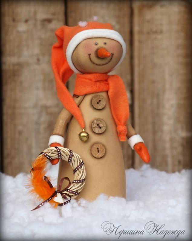 Кофейный Снеговичок. - Ярмарка Мастеров - ручная работа, handmade