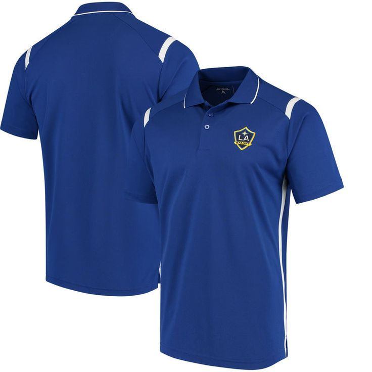 LA Galaxy Antigua Merit Polo – Royal/White