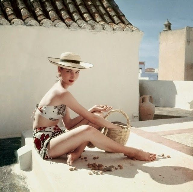 """vintage everyday: Beautiful Fashion Shots of Model Sherry """"Cherry"""" Nelms in the 1950s"""