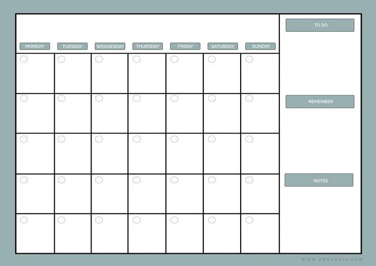 Diy Calendar Nz : Diy monthly planner dry erase calendar free printable