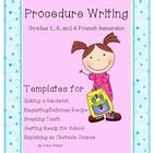 This is a collection of 6 templates for procedure writing in French. This work would be appropriate for Grades 2, 3, and 4 French Immersion. This i...