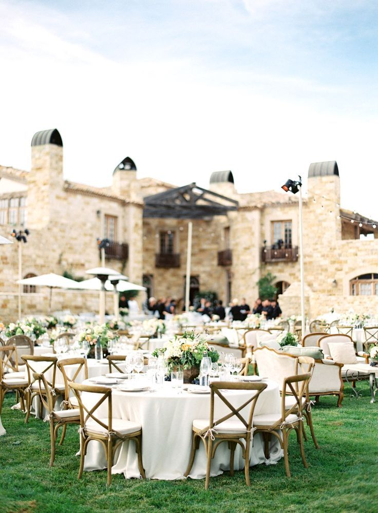 beautiful wedding places in northern california%0A Outdoor wedding venue with beautiful tables and chairs