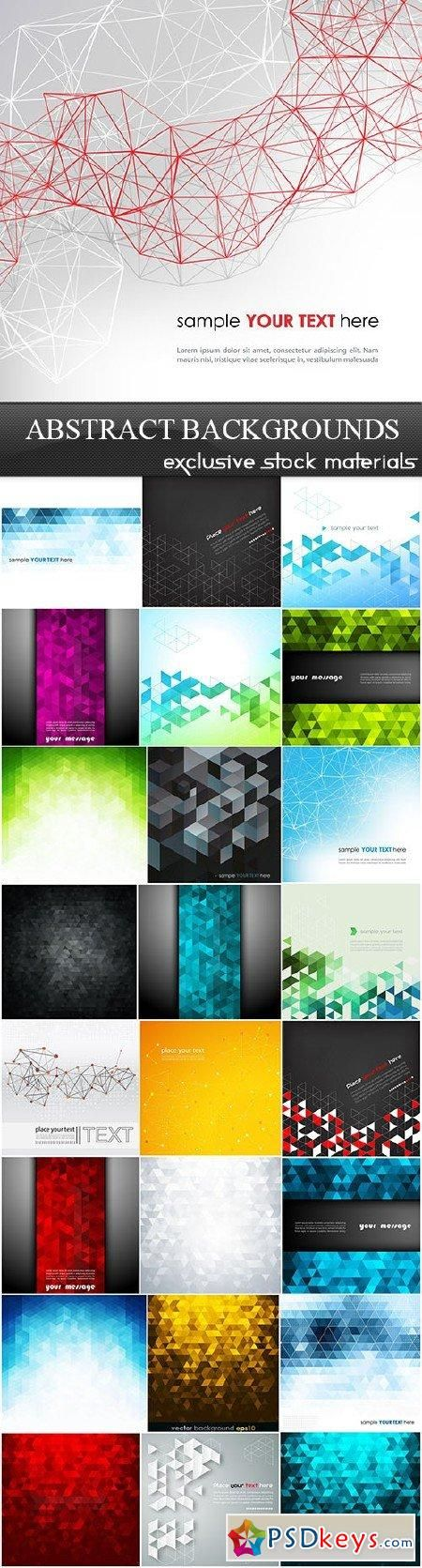 Abstract Backgrounds Vector Set 25xEPS 296 best