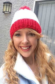 Red and white hat that is great for parties! Red rim and white beanie area with a big red pom pom on top! Color: Red and White Material: 100% soft acrylic yarn ​Size: Adult / Teen Machine Wash - Washing and Care instructions sent with every item