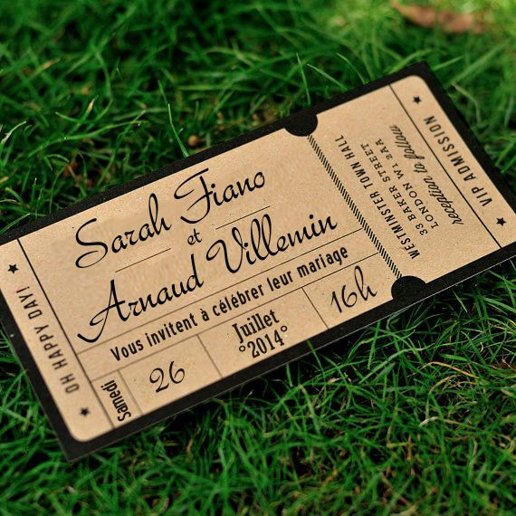 Concert Ticket Invitations with great invitations layout