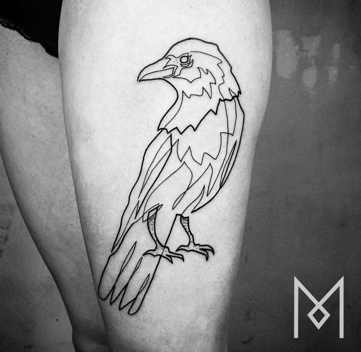Berlin single line tattoo