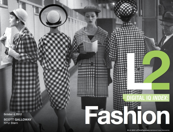 2012 Digital IQ Index®: Fashion. For the full ranking and report highlights visit http://www.l2thinktank.com/research/fashion-2012/
