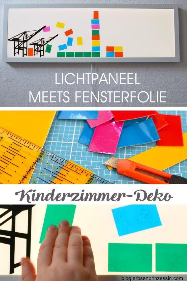 Lichtpaneel fürs Kinderzimmer: DIY-Wanddeko (mit Plotter-Freebie