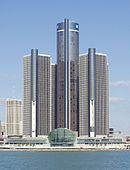 GM headquarters in Detroit,  Renaissance Center