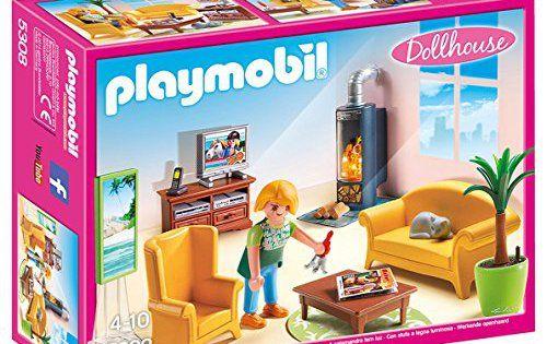 Playmobil- 5308 – Salon avec poêle à bois: C'est l'heure de me détendre et de faire une pause bien méritée dans mon salon ! Contenu : – un…