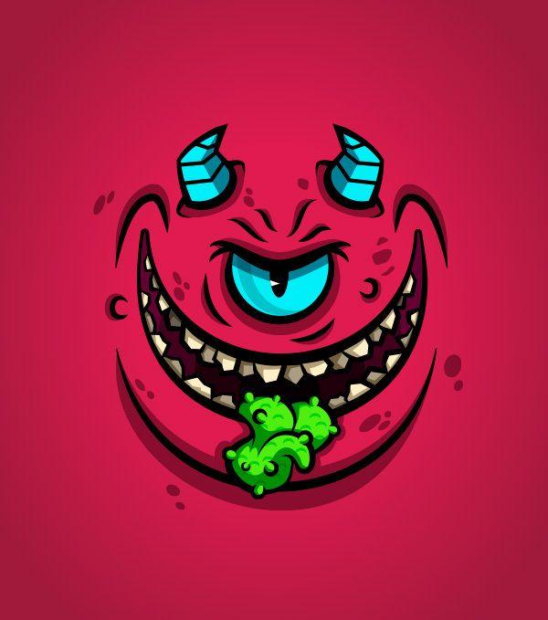 Monster Faces by Daniel Ferenčak
