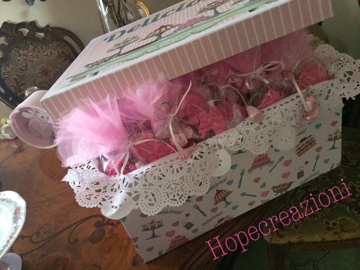 Baby girl #confetti #biscotti #bomboniere #rosa #bambina