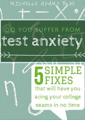 5 Foolproof Ways to Overcome Exam Anxiety/Test Stress – Michelle Adams #college…
