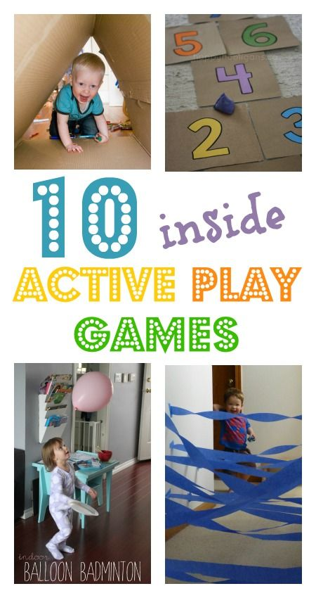 10 active games to play indoors when it's too chilly to go outside! From Baby Centre
