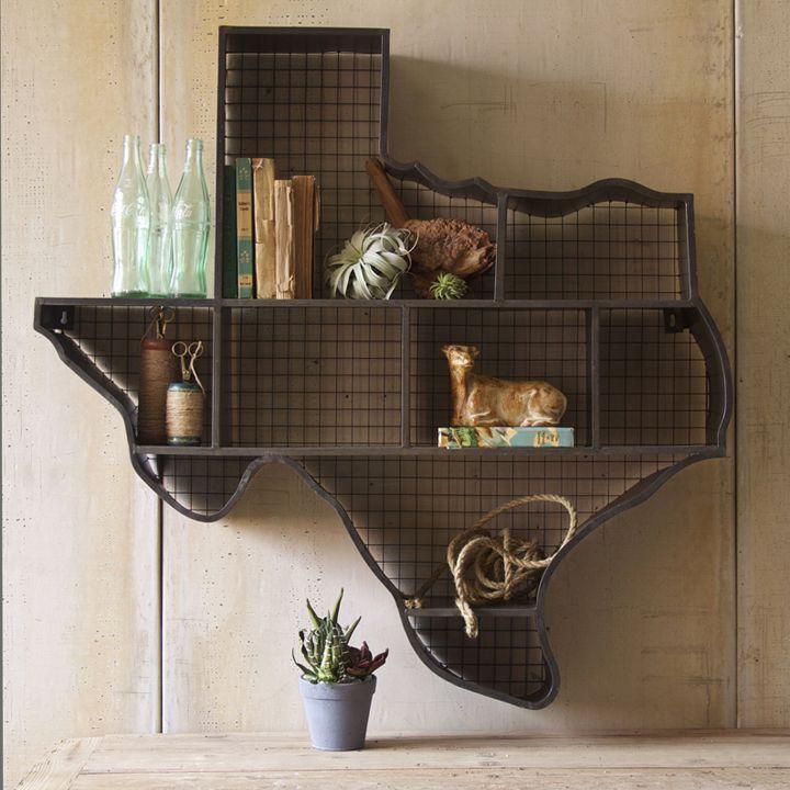 Texas Wall Cubby, $350.00: Texas Shelf, Raw Metals, Farmhouse Furniture, Texas Home, Wall Shelves, Wall Shelf, U.S. States, Texas Cubbies, Texas Wall