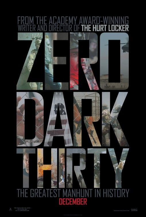 Zero Dark Thirty takes us behind the scenes of a Govt. apparatus that's become completely misunderstood these las few years..  Based loosely on the allegedly real events that led to Bin Laden's fate, the film ultimately asks us where we draw the line of intelligence gathering against human dignity.  The last 45 minutes left me on the edge of my seat.