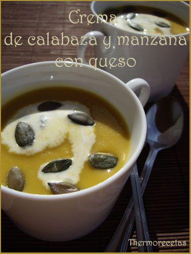 crema de calabaza y manzana con queso Mayra Fdez Joglar. Crema de Calabaza y Manzana con Queso