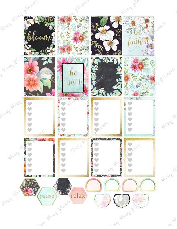 Spring Flowers Planner stickers Weekly Kit Set for Erin Condren sticker