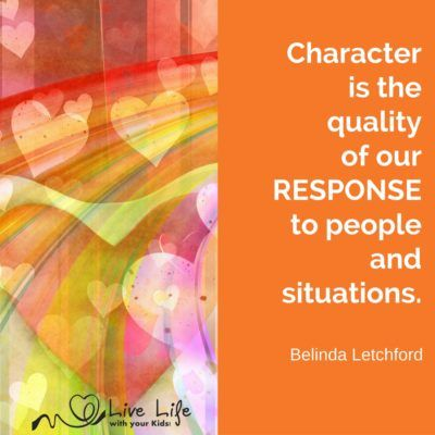 My definition of character: the quality of our response to people and…