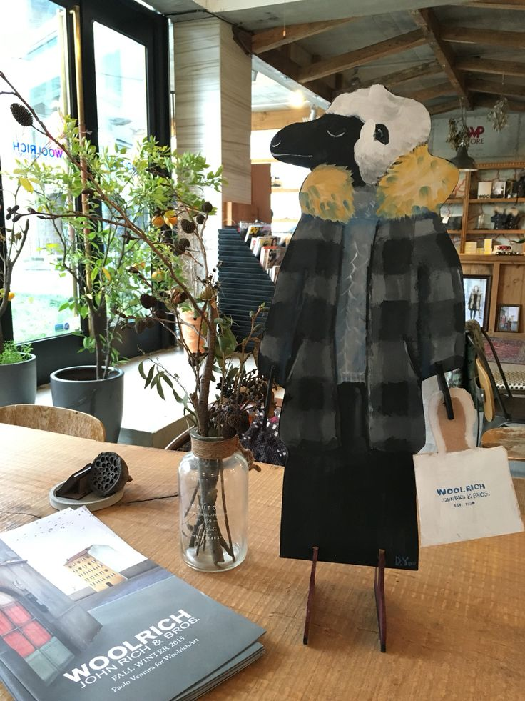 "Lady ""Wool"" at WP STORE SEOUL & Woolrich"