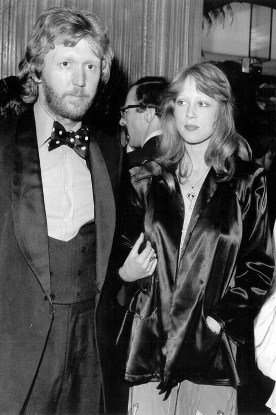 "truthaboutthebeatlesgirls: ""groupiesoutrageously: ""Harry Nilsson and Pattie Boyd "" Circa August 23, 1972 - Harry Nilsson and Pattie Boyd attending the London premiere of The Godfather. """