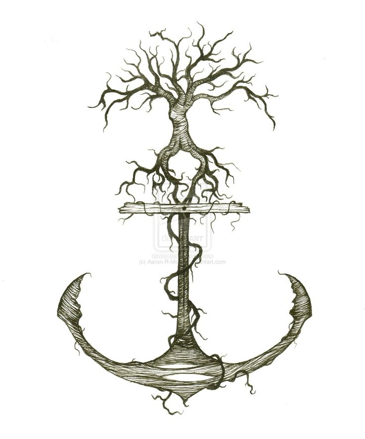 Naked tree annnnd anchor... I'm in love