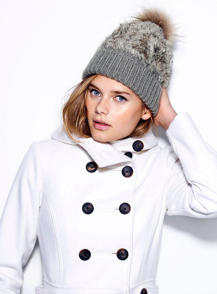 La tuque tricot et lapin | Rabbit fur and knit tuque | Simons