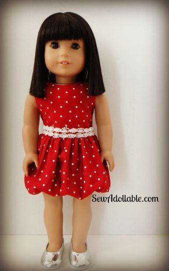 How to Sew Bubble Dress for American Girl Dolls (Free Sewing Pattern for…