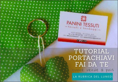 DIY: tutorial portachiavi fai da te cuore a pois Panini Tessuti. Link diretto: https://www.tessutietendaggipanini.it/blog/