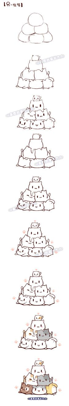 画一堆喵,来自@基质的菊长大人