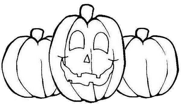 Pumpkin Coloring Sheets for Preschool | Pumpkins Coloring Page