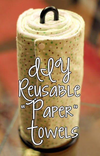 "homevolution: DIY Reusable ""Paper"" Towels.. if I ever have a washer/dryer this will be in my house!"