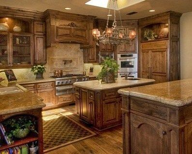 ideas for kitchens cabinets with alder   | Knotty Alder Kitchen