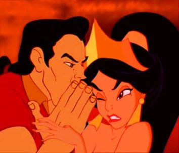 Disney Crossovers. Jasmine and Gaston. This one's kinda funny hahaha