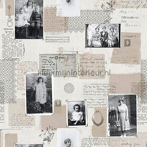 Pictures & letters romantisch behang
