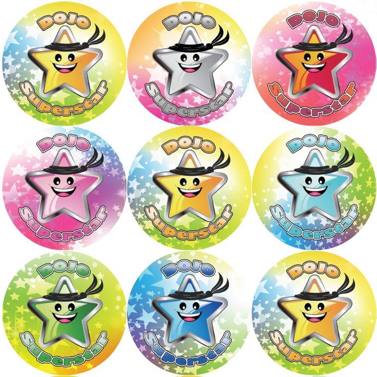144 Dojo Superstar 30 mm Reward Stickers for Teachers