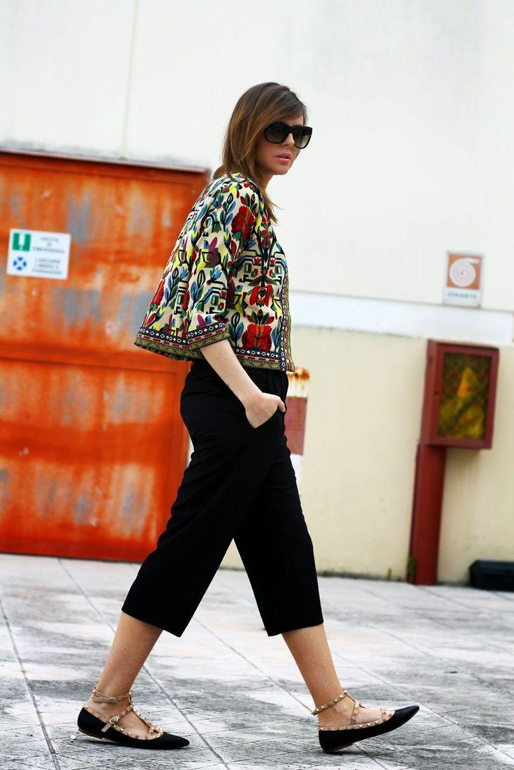 #ootd #outfit #ethnicblazer #bohoblazer #jacket #rockstud #culottes #streetstyle