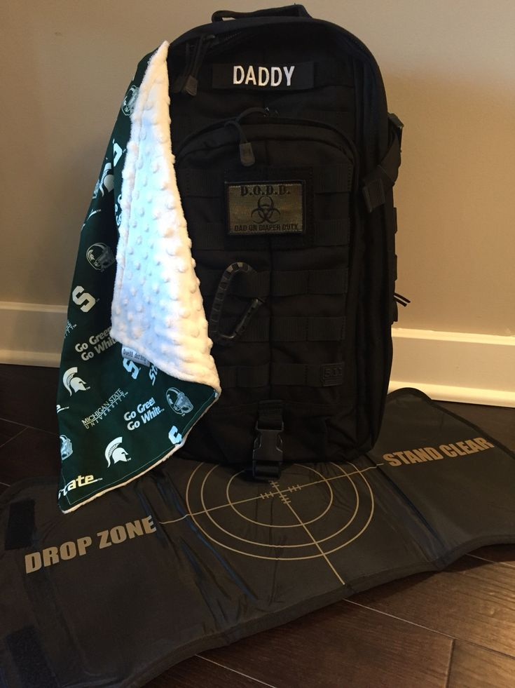 Daddy Tactical Diaper Bag- Daddy Diaper Bag - Guy Diaper Bag. 5.11 brand tactical bag: MOAB 10 with tactical baby accessories bought separately, and a lovey to represent daddy's favorite team.