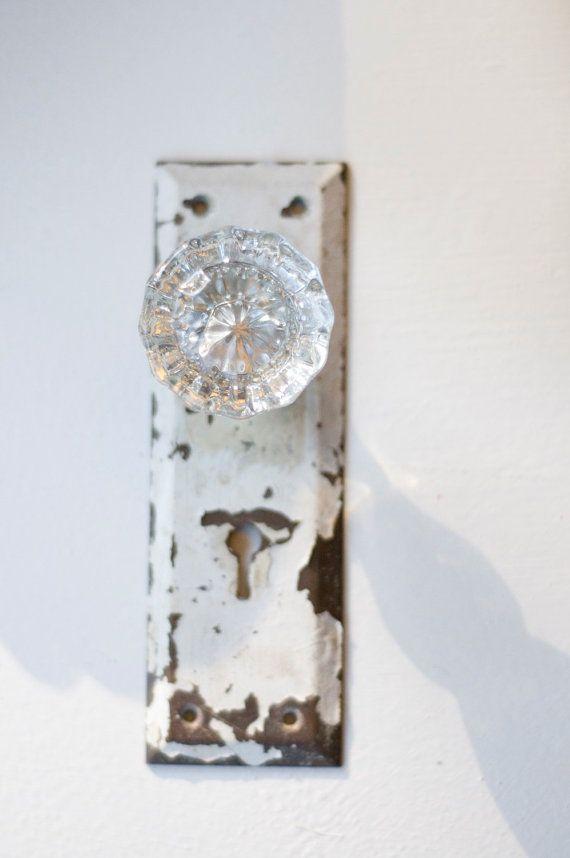 Delightful Vintage Crystal Door Knob Curtain Tie Back