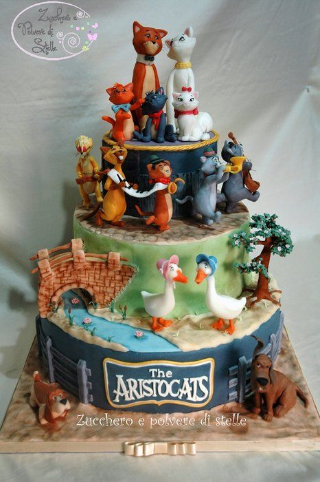 The Aristocats Cake  -- Zucchero e polvere di stelle, Pisa (Italy), https://www.facebook.com/pages/Zucchero-e-polvere-di-stelle/140610409381326?ref=hl
