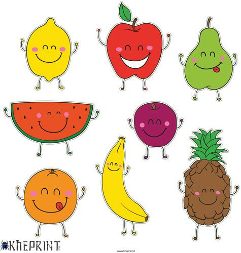 Stickers de frutas stickers infantiles stickers for Sticker decorativos para ninos