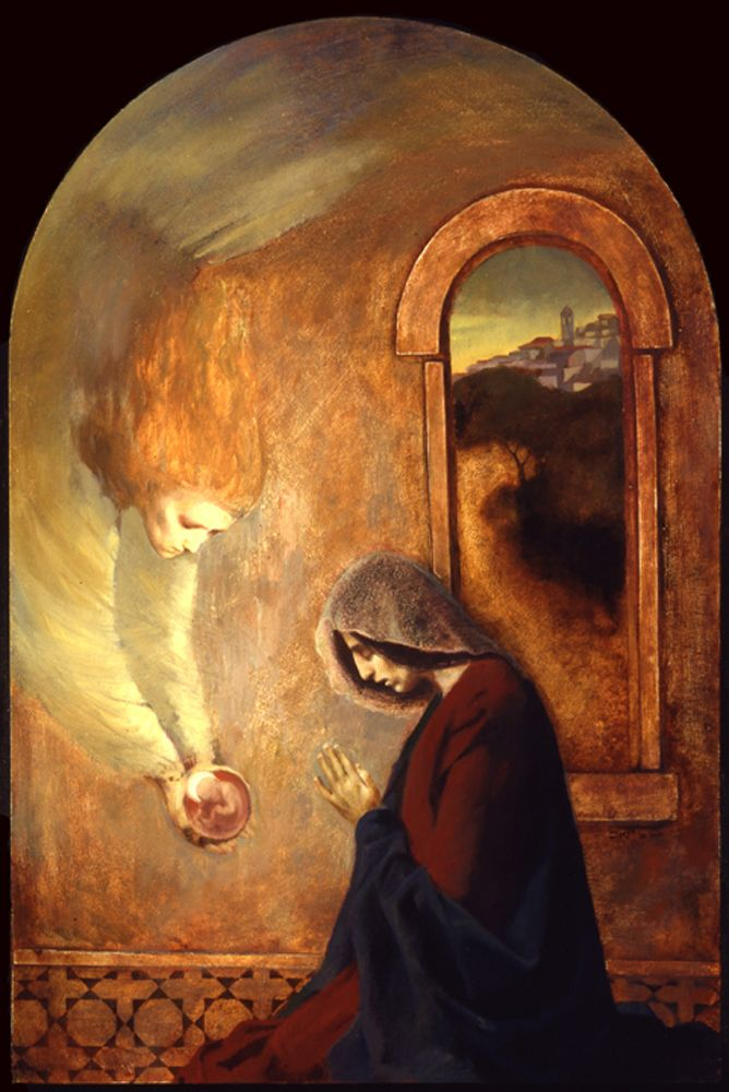 One of my favorite images of the Annunciation. J. Kirk Richards